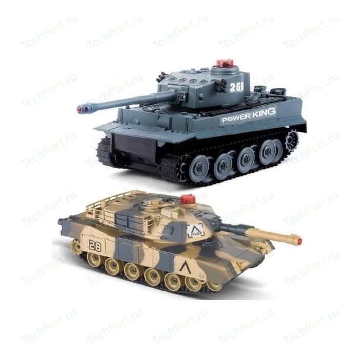 Радиоуправляемый танковый бой Huan Qi Tiger vs Leopard масштаб 1:24 2.4G