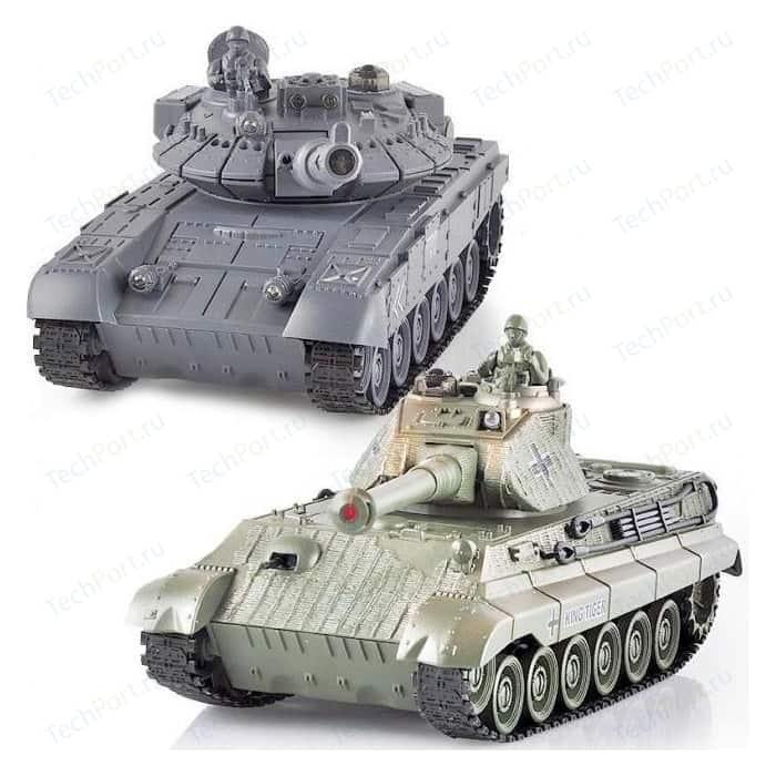 Радиоуправляемый танковый бой MYX T90 и Tiger King масштаб 1:28 профиль s2 line 7977 t90 021264