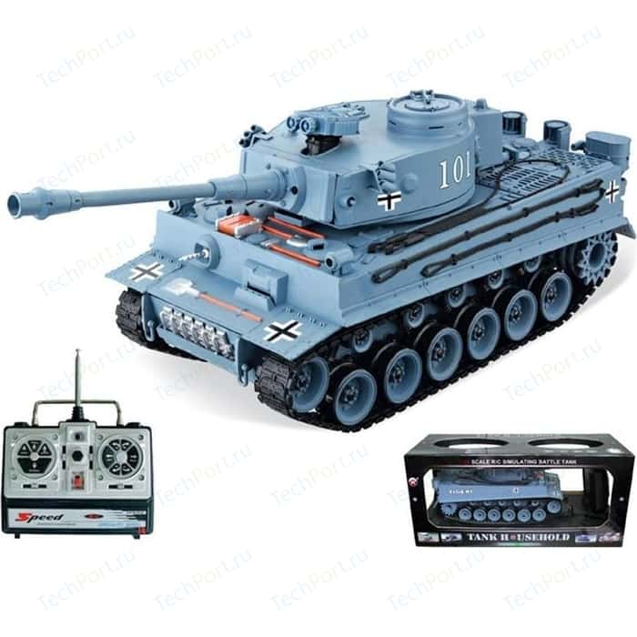 Радиоуправляемый танк HouseHold German Tiger Grey масштаб 1:20 40Mhz