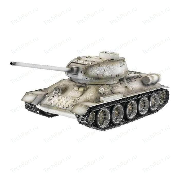 Радиоуправляемый танк Taigen Russia T34-85 Winter Camouflage Edition масштаб 1:16 2.4G