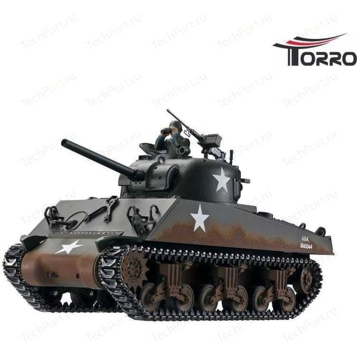 Радиоуправляемый танк Torro Sherman M4A3 RTR масштаб 1:16 2.4G