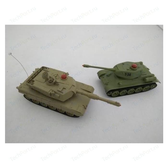 Радиоуправляемый танковый бой Zegan ИК M1A2 PK/Russia T-34
