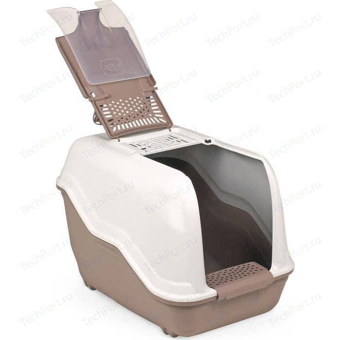Био-туалет MPS NETTA с совком коричневый 54x39x40h см для кошек