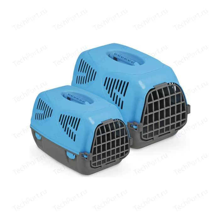 Переноска MPS SIRIO BIG голубая 64x39x39h см для животных