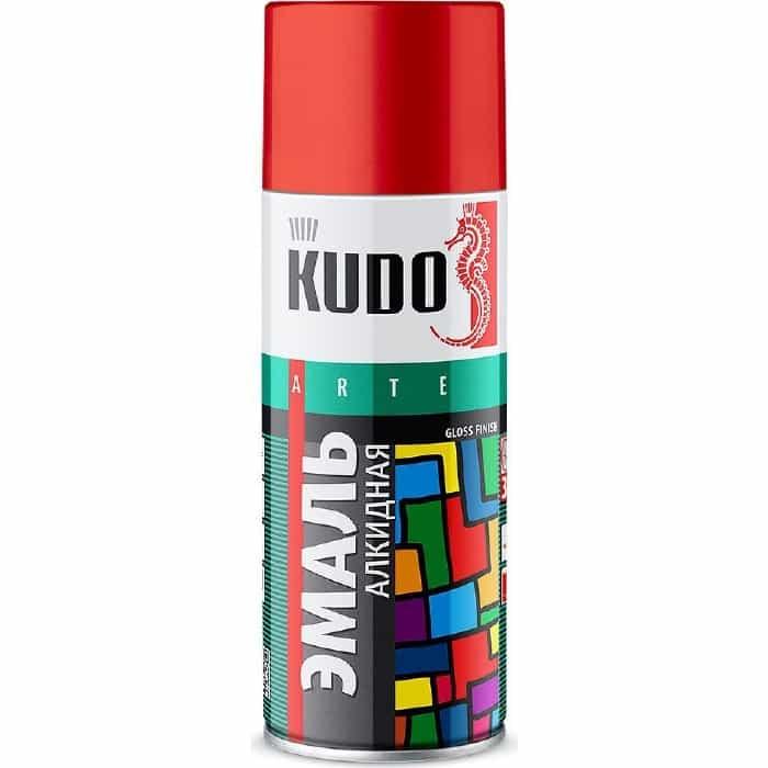 Эмаль алкидная аэрозоль KUDO серая темная 520мл. (12)ku-1016