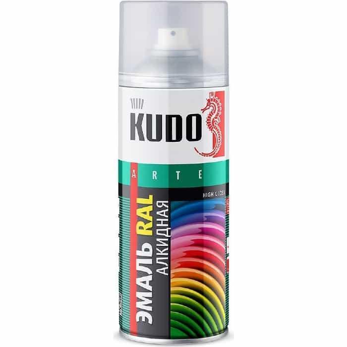 Эмаль алкидная аэрозоль KUDO RAL 3005 винно-красный 520мл. (6)ku-03005