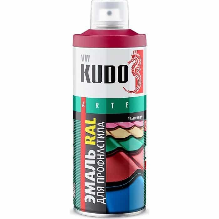 Эмаль аэрозоль KUDO для профнастила ral 3011 коричнево-красный 520мл. (6)ku-03011-r