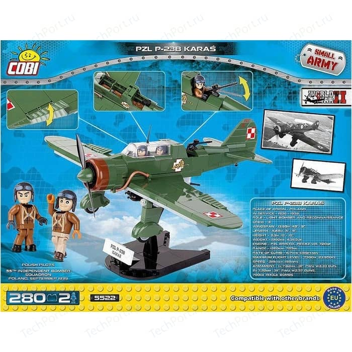 Конструктор COBI самолёт штурмовик P 23B KARA