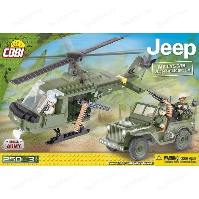 Конструктор COBI Jeep Willys MB with Helicopter