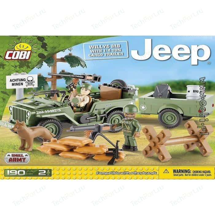 Конструктор COBI Jeep Willys MB with 14 Ton Cargo Trailer