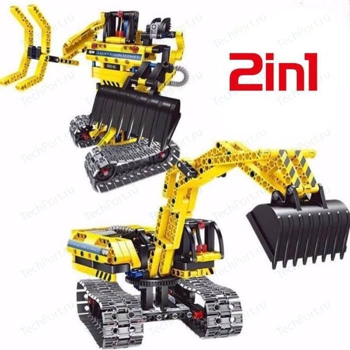 Конструктор QiHui 2 в 1 (экскаватор и робот) Technics 342 детали