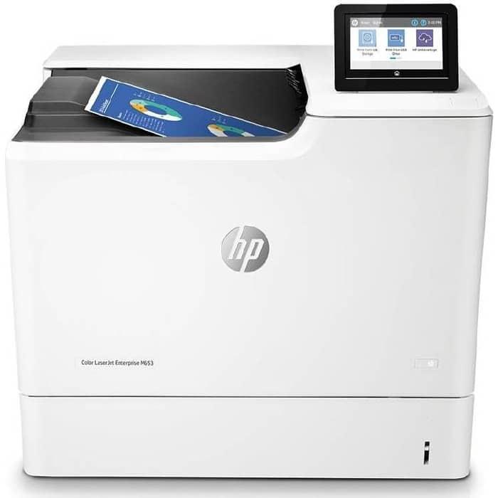 Фото - Принтер HP Color LaserJet Enterprise M653dn принтер hp laserjet enterprise m607dn a4 52 стр мин дуплекс 512мб usb ethernet