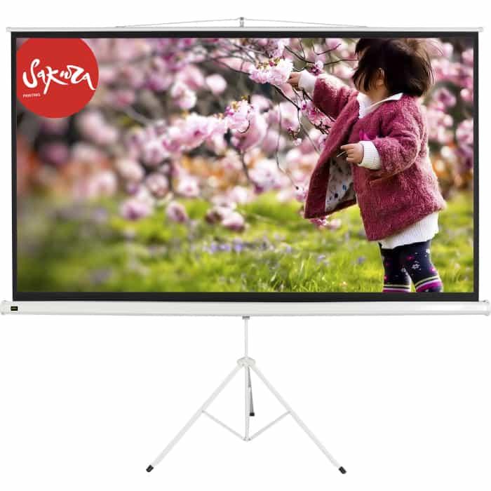 Фото - Экран для проектора Sakura 150x150 TriScreen 1:1 напольный 84 осциллограф owon p6100 100mhz 10 1