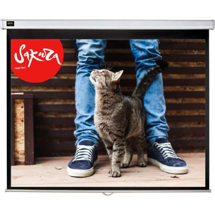 Фото - Экран для проектора Sakura 150x150 Wallscreen 1:1 настенно-потолочный 84 экран для проектора sakura 332x186 motoscreen 16 9 настенно потолочный моторизованный 150