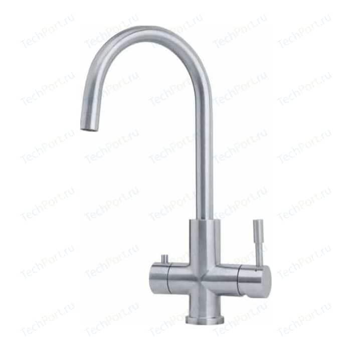 Смеситель для кухни Franke Eos Clear Water с подключением к фильтру, нержавеющая сталь (120.0179.979)