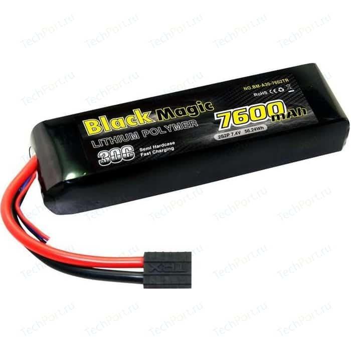 Аккумулятор Black Magic Li-Po 7.4В 2S 30C 7600мАч