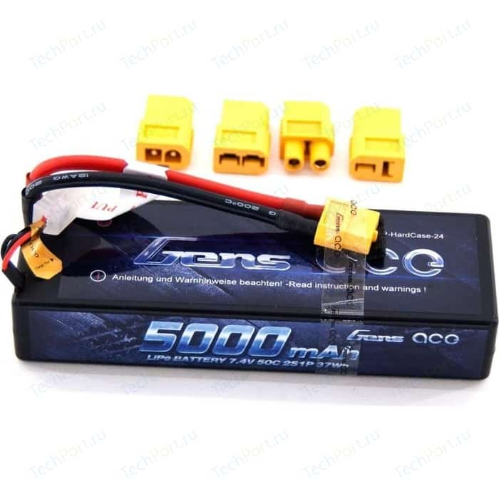 Аккумулятор Gens Li-Po 7.4В 5000мАч 50C Hobby