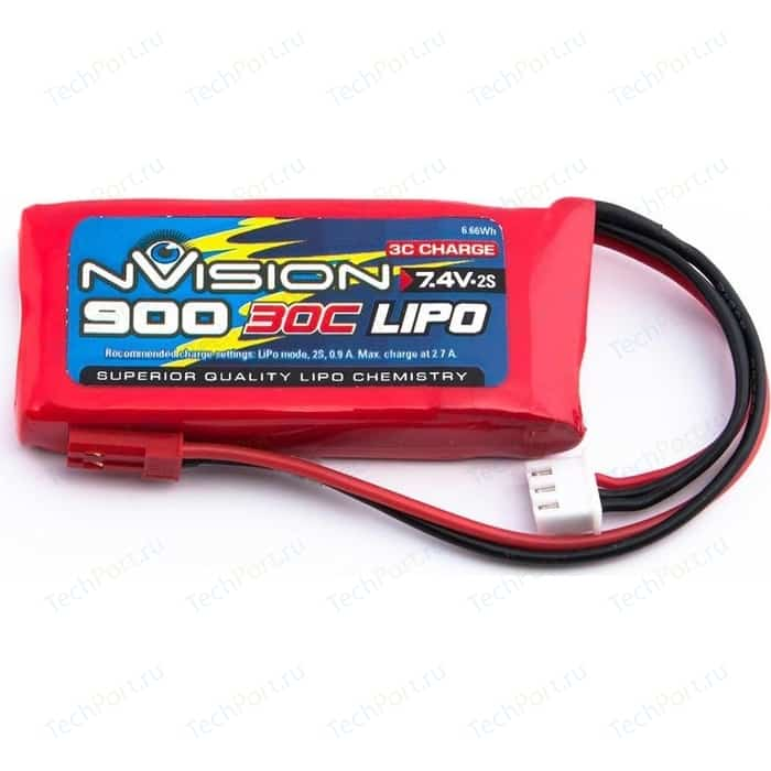 Аккумулятор nVision Li-Po 7.4В 2S 30C 900мАч