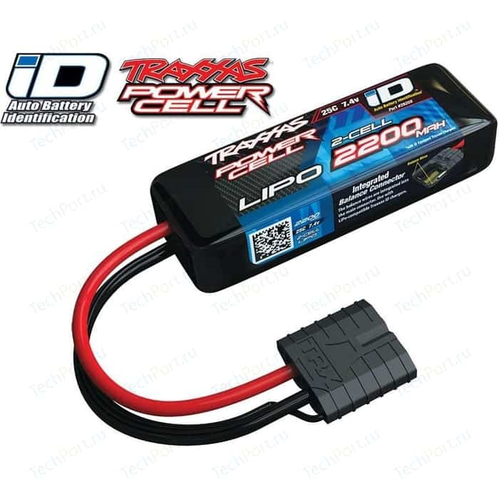 Аккумулятор TRAXXAS 2200мАч 7.4В 2 Cell 25C Li-Po Battery (iD Plug)