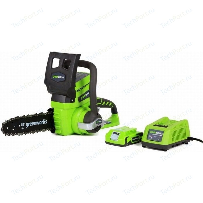 Электропила аккумуляторная GreenWorks G24CS25K2 (2000007va)