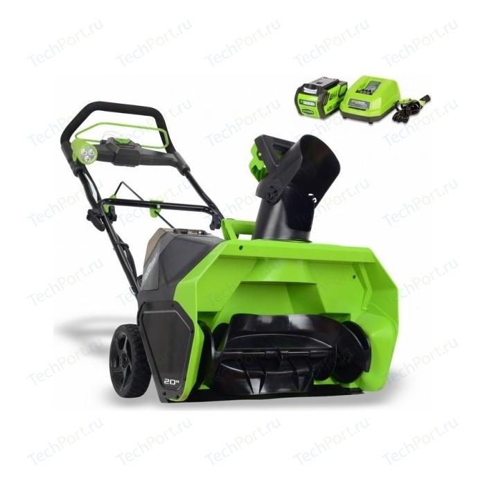 Снегоуборщик аккумуляторный GreenWorks GD40SB (2600607)