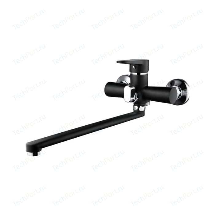Смеситель для ванны РМС SL77 черный с длинным изливом (SL77BL-006E) цена 2017