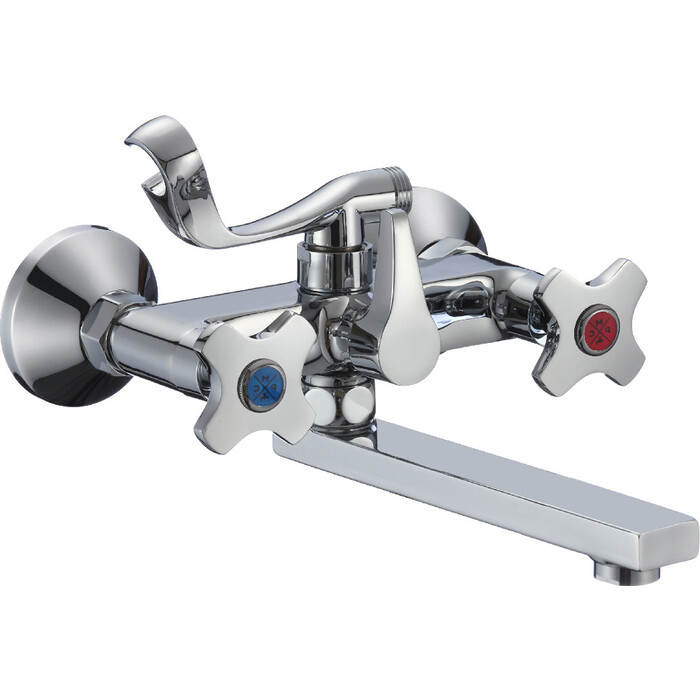 Смеситель для ванны РМС SL115 с коротким изливом (SL115-142E)