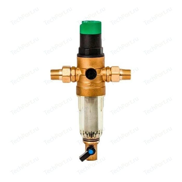 Фильтр предварительной очистки Гейзер Бастион 7508155233 (1/2 для холодной воды, с обратной промывкой, манометром d52,5) (32681)