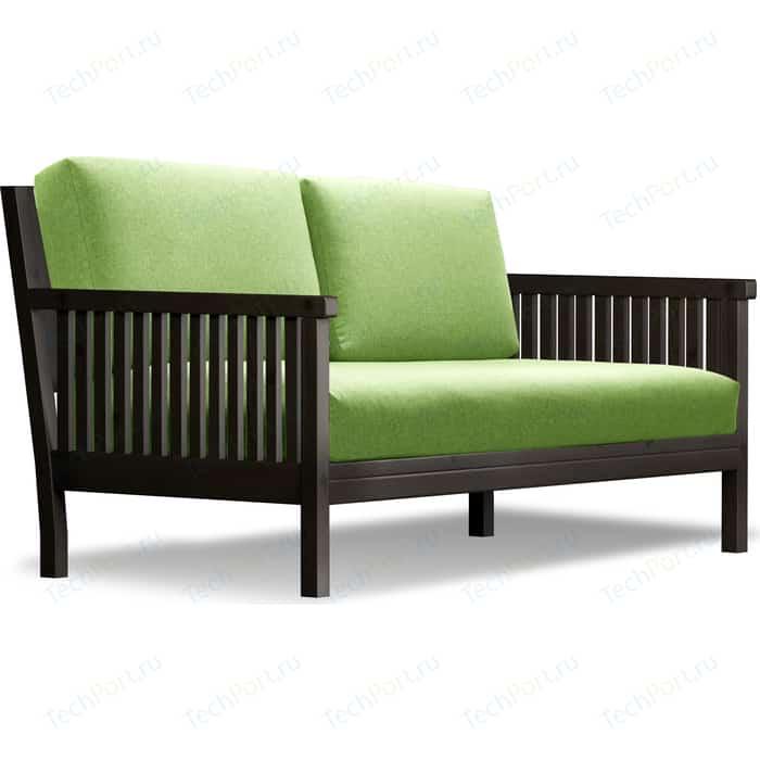 Диван Anderson Норман венге-зеленая рогожка