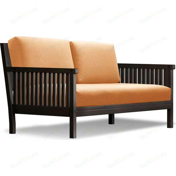 Диван Anderson Норман венге-оранжевая рогожка