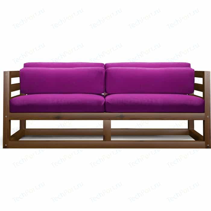 Диван Anderson Магнус Мини орех-фиолетовый вельвет