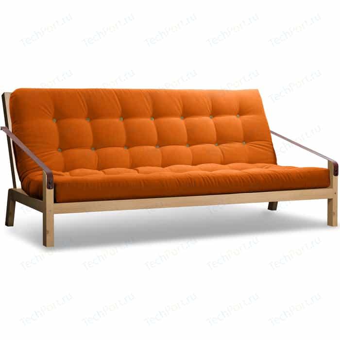 Диван Anderson Локи сосна-оранжевый вельвет