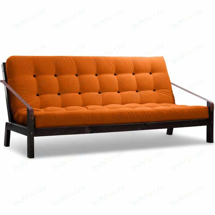 Диван Anderson Локи венге-оранжевый вельвет