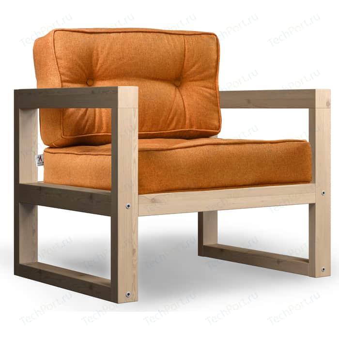 Кресло Anderson Астер сосна-оранжевая рогожка.