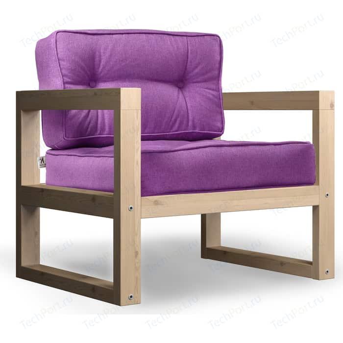 Кресло Anderson Астер сосна-фиолетовая рогожка.