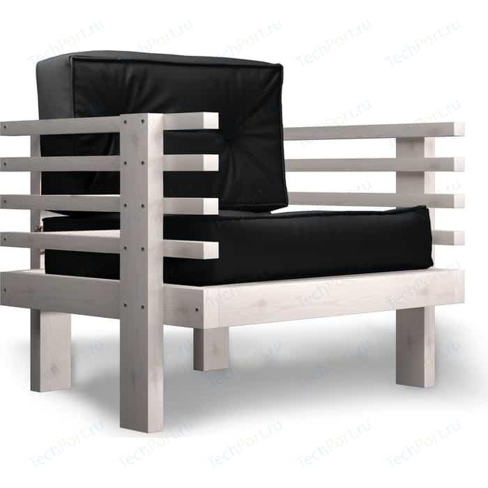 Кресло Anderson Стоун бел дуб-черный кож.зам недорого