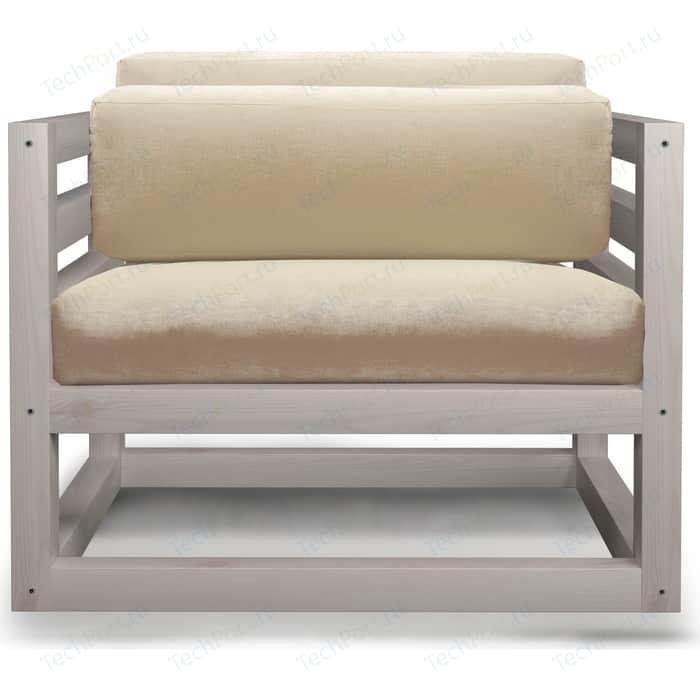 Кресло Anderson Магнус бел дуб-белый вельвет.