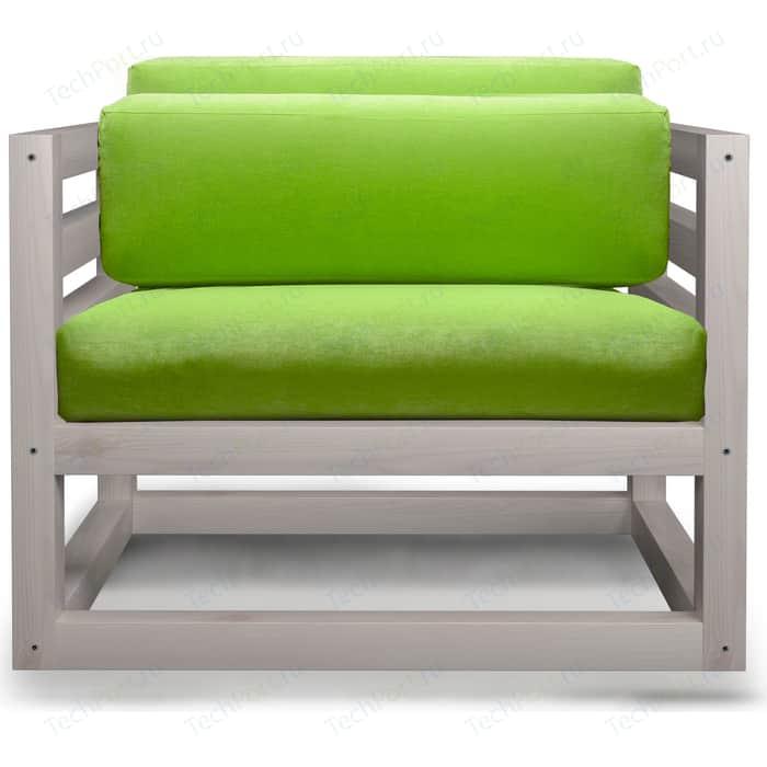 Кресло Anderson Магнус бел дуб-салатовый вельвет.