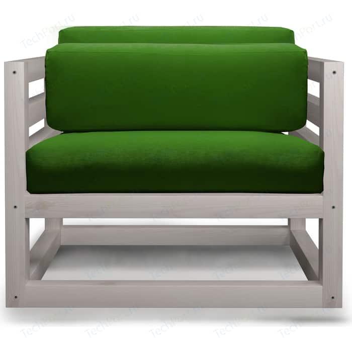 Кресло Anderson Магнус бел дуб-зеленый вельвет.