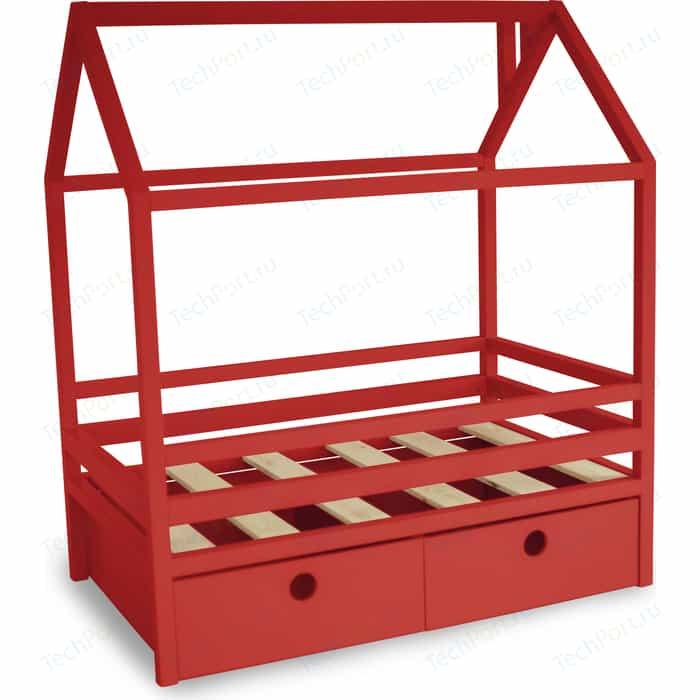 Кровать Anderson Дрима BOX красная 80x190