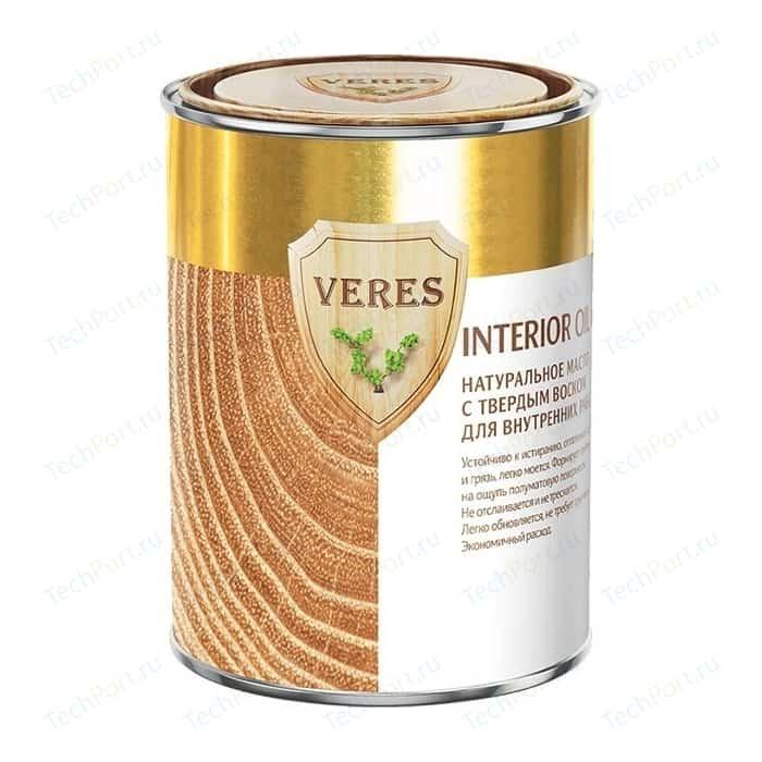 Масло для древесины VERES OIL INTERIOR с воском внутр.работ № 2 сосна 0.9л.