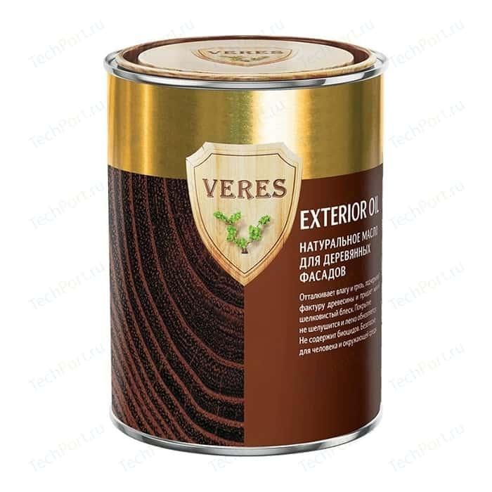 Масло для деревянных фасадов VERES OIL EXTERIOR № 2 сосна 0.9л.