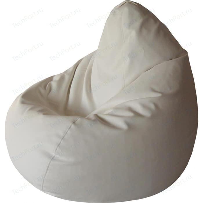 Кресло-груша Папа Пуф Экокожа белый