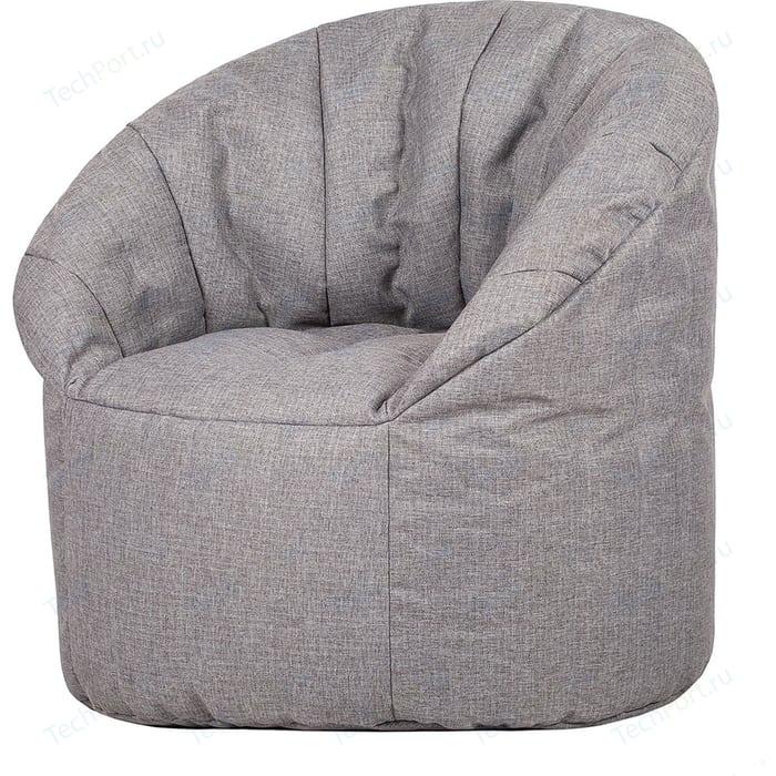 Бескаркасное кресло Папа Пуф Club chair grey