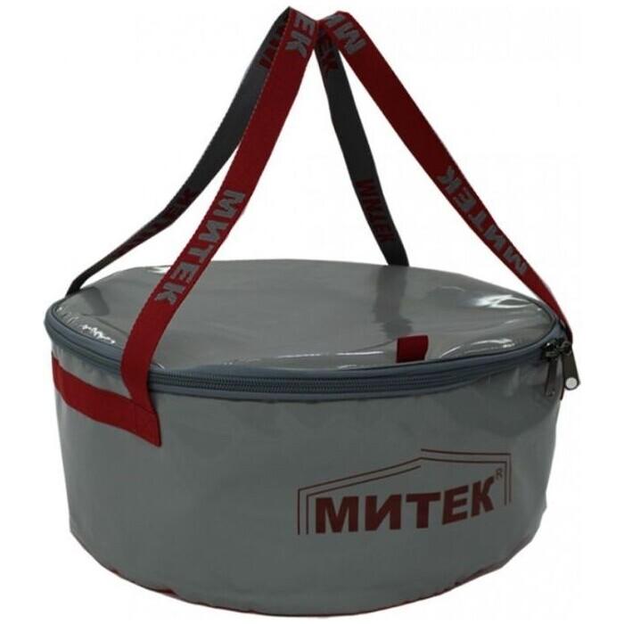 Фото - Ведро складное Митек с крышкой диаметр 50см. Н-20см. сумка рыболовная митек с крышкой овал 40х20х40 серый