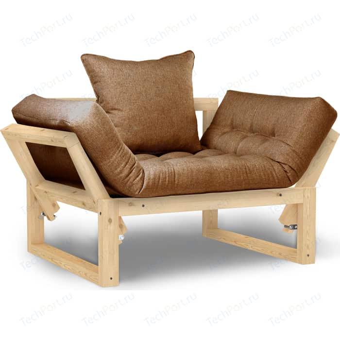 Кресло Anderson Амбер сосна-коричневая рогожка.