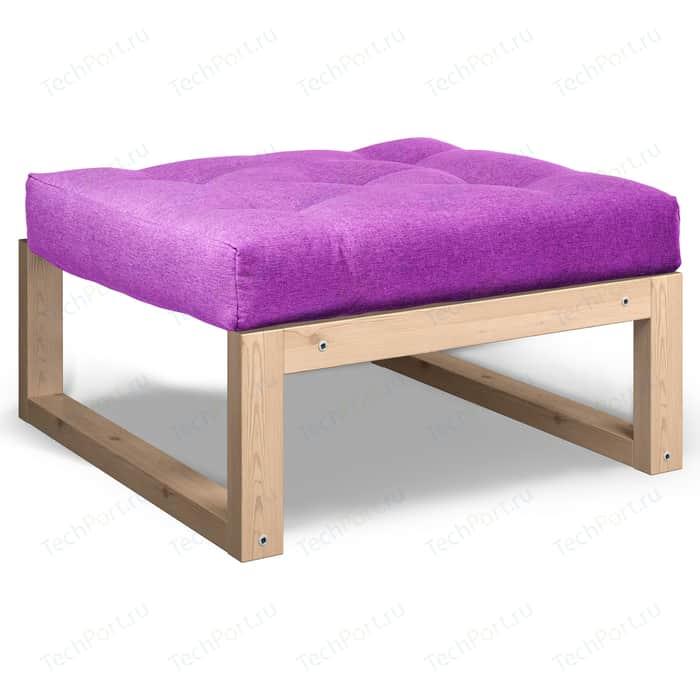 Пуфик Anderson Амбер сосна фиолетовая рогожка
