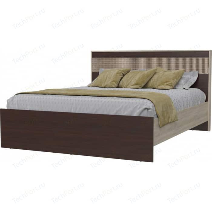 Кровать Гранд Кволити Румба 4-1824 дуб сонома/венге шкаф 4 х дверный с ящиками гранд кволити даллас 4 4818 венге дуб сонома
