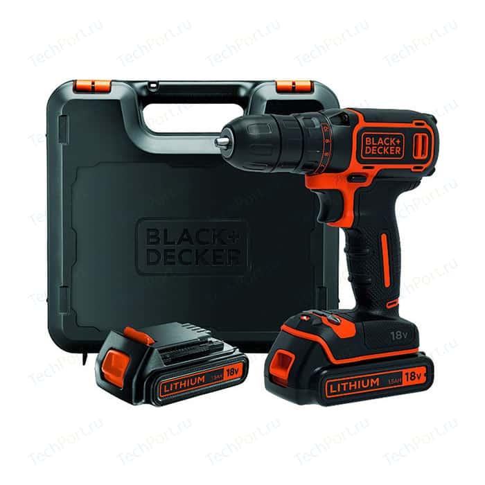 Дрели-шуруповерты аккумуляторные Black+Decker BDCDC18K1B
