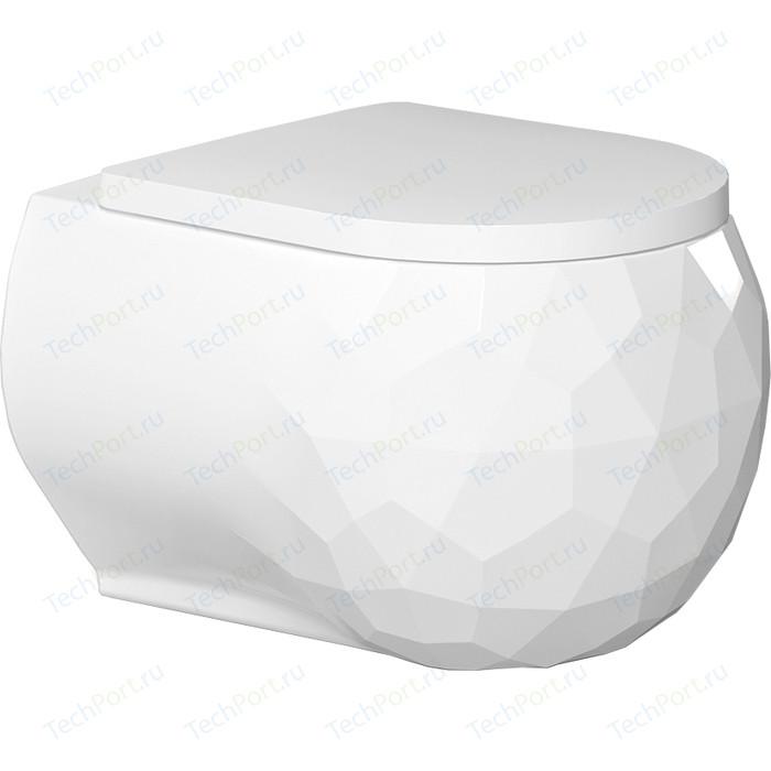 Унитаз подвесной Bien Pent безободковый с гигиеническим покрытием и форсункой биде (PNKA052N1VP1W3000) унитаз подвесной bien kristal безободковый с гигиеническим покрытием krka060n1vp0w3000